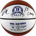 Jahlil Okafor Autographed Duke 2015 Champs Basketball Inscribed '15 Champs