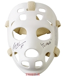 Gerry Cheevers Autographed Throwback Goalie Mask Inscribed The Mask