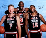 Larry Bird & Magic Johnson Dual Autographed 1992 Olympics Dream Team 20x24 Photo