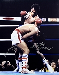 Roberto Duran & Ray Leonard Autographed 1st Fight 16x20 Photo