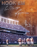 Campbell, Williams & Young Autographed UT Texas Longhorns 16x20 Photo