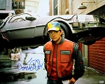 Michael J Fox Autographed Back to the Future II 16x20 Photo