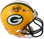 Eddie Lacy Autographed Green Bay Packers Mini Helmet Inscribed ROY 13