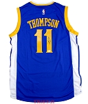 Klay Thompson Autographed Warriors Blue Swingman Jersey
