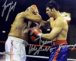 Lou Savarese Autographed 8x10 Photo Inscribed I Fought Tyson, Holyfield & Forman