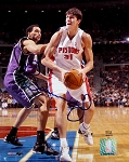 Darko Milicic Autographed Detroit Pistons 8x10 Photo
