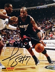 Jermaine O'Neal Autographed Miami Heat 8x10 Photo