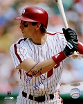 Von Hayes Autographed Philadelphia Phillies 8x10 Photo Inscribed 89 AS