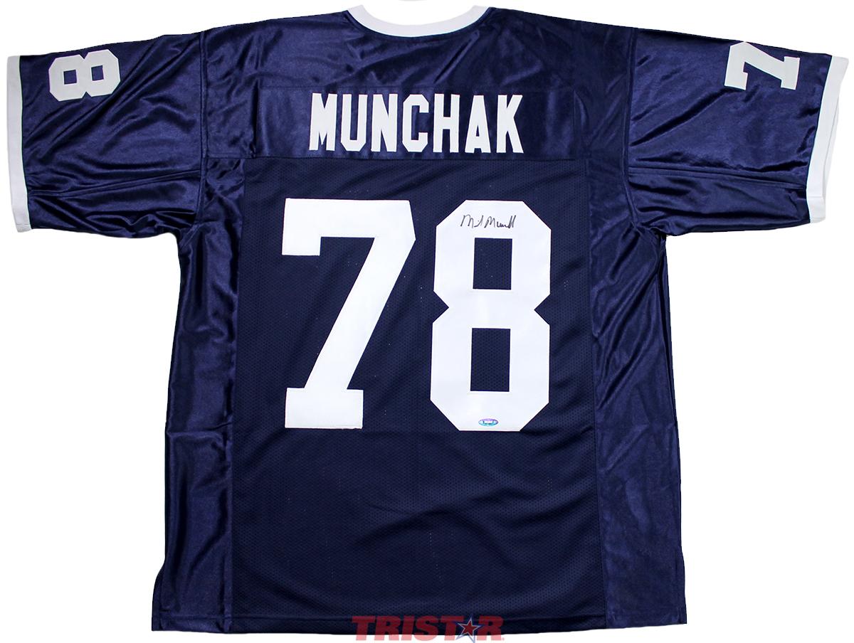 69268e133 Mike Munchak Autographed Penn State Custom Jersey