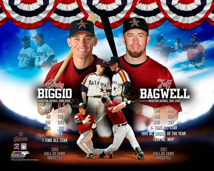 Jeff Bagwell Amp Craig Biggio Autographed Hall Of Fame