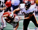 Dan Hampton Autographed Chicago Bears Super Bowl XX Sack 16x20 Photo