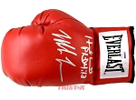 Evander Holyfield & Mike Tyson Autographed Red Everlast Boxing Glove