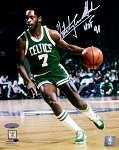Nate Archibald Autographed Celtics 8x10 Photo Inscribed HOF 91