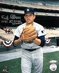Fritz Peterson Autographed New York Yankees 8x10 Photo Inscribed 1970 20 Game Winner