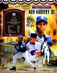 Ken Griffey Jr. Autographed Hall of Fame Commemorative 16x20 Photo Inscribed HOF 16
