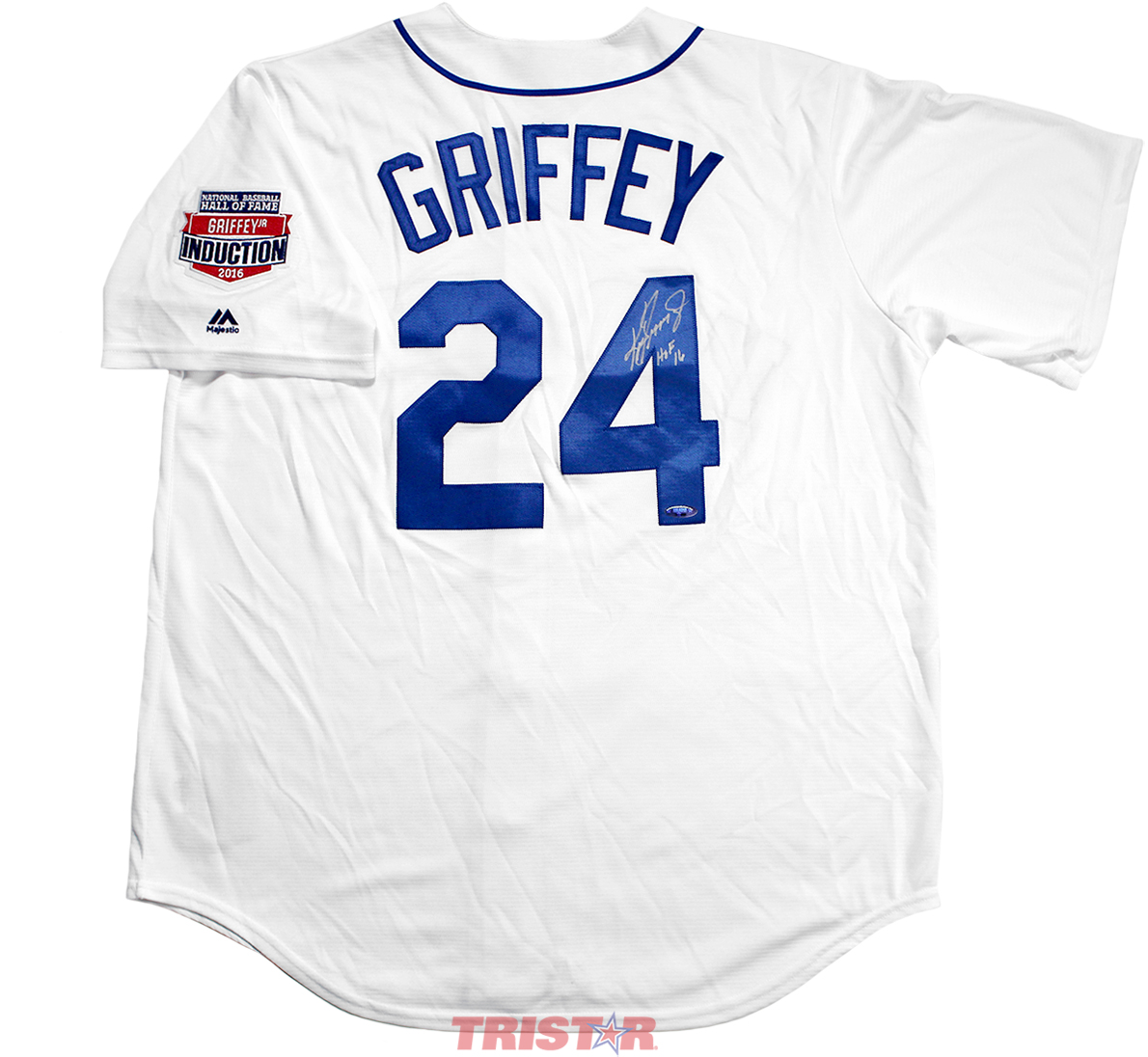 5a2a3f8289a209 Ken Griffey Jr. Autographed Seattle Mariners 1989 Replica Jersey ...