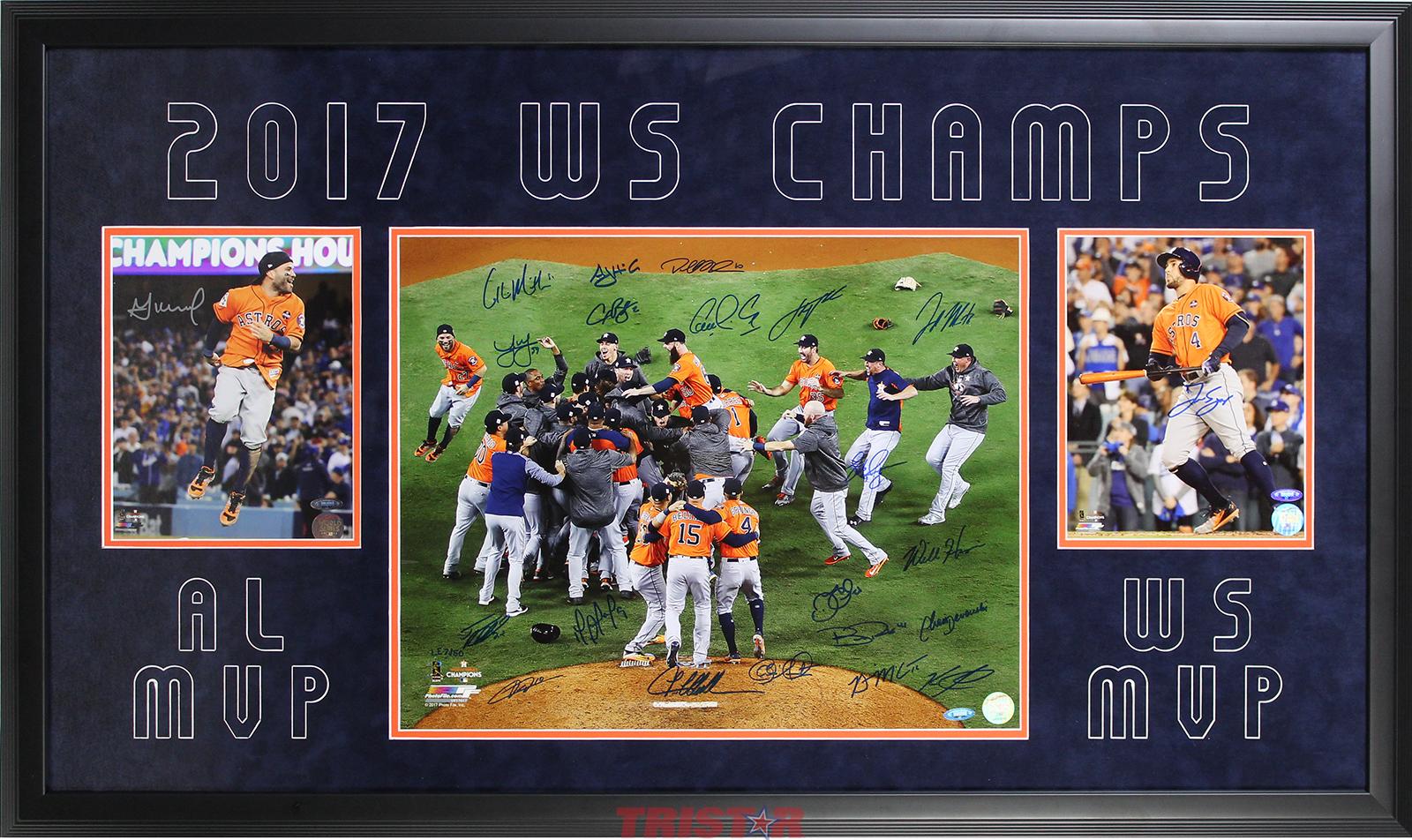 5f8ec89ed Houston Astros Team Autographed 2017 World Series 16x20 & 8x10 ...