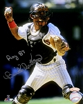 Benito Santiago Autographed San Diego Padres 8x10 Photo Inscribed 87 NL ROY