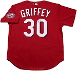 Ken Griffey Jr. Autographed Cincinnati Reds Throwback Mitchell & Ness Jersey