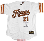 Roger Clemens Autographed Texas Longhorns Jersey Inscribed 83 Natl Champs