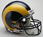 Los Angeles Rams Authentic Proline Throwback Helmet - Yellow Horn