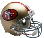 San Francisco 49ers Throwback (64-95) Authentic Full Size Helmet