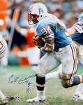 Earl Campbell Autographed Houston Oilers 16x20 Photo Inscribed HOF 91