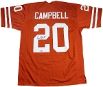 Earl Campbell Autographed Texas Longhorns Orange Custom Jersey