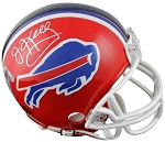 Jim Kelly Autographed Buffalo Bills Throwback Mini Helmet