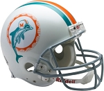 Miami Dolphins Throwback Authentic Full Size Helmet