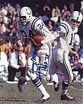 Lenny Moore Autographed Colts 8x10 Photo Inscribed HOF 75