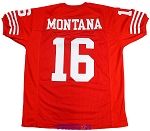 Joe Montana Unsigned Custom 49ers Red Jersey