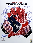 Houston Texans Autographed Glove 16x20 with 15 Signatures