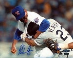 Nolan Ryan Autographed Texas Rangers Ventura Fight 8x10 Photo