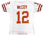 Colt McCoy Autographed Texas Longhorns White Custom Jersey