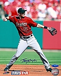 Tommy Manzella Autographed Houston Astros 8x10 Photo