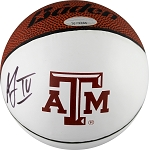 Acie Law Autographed Texas A&M Logo Mini Basketball
