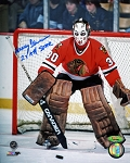 Murray Bannerman Autographed Chicago Blackhawks 8x10 Photo Inscribed 2X All Star