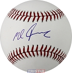 Mike Foltynewicz Autographed Official ML Baseball