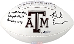 Mike Evans Autographed Texas A&M Logo Football Inscribed