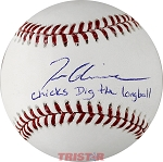 Tom Glavine Autographed Official ML Baseball Inscribed Chicks Dig the Longball