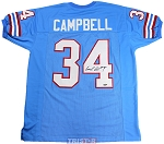 Earl Campbell Autographed Houston Oilers Custom Blue Jersey