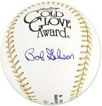 Bob Gibson Autographed Official Gold Glove Baseball