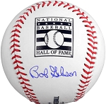 Bob Gibson Autographed Official Hall of Fame Baseball