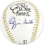 Ozzie Smith Autographed Official Gold Glove Baseball