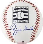 Ozzie Smith Autographed Official Hall of Fame Baseball
