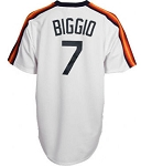 Craig Biggio Unsigned Houston Astros Replica Vintage Jersey