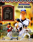 Craig Biggio Autographed Official Hall of Fame 16x20 Photo Collage Inscribed HOF 15