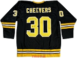 Gerry Cheevers Autographed Boston Bruins Jersey Inscribed HOF 85