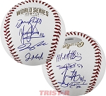 San Francisco Giants Team Signed 2014 World Series Baseball - 8 Signatures